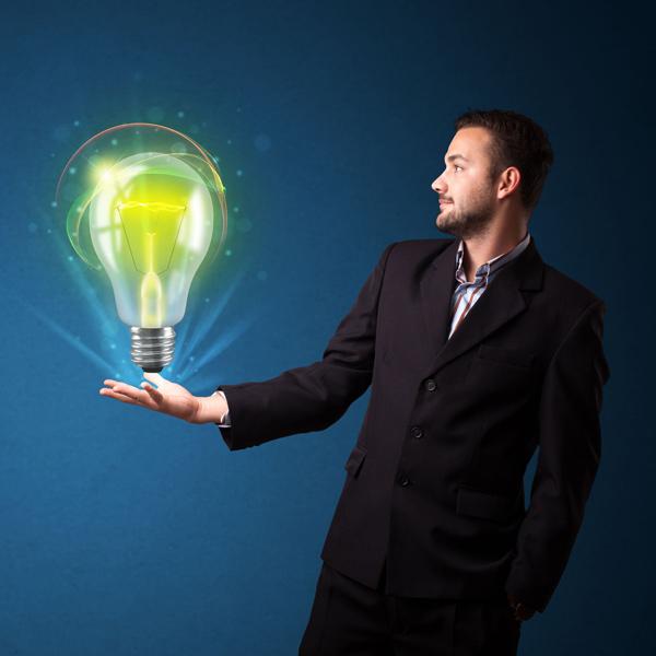businessman lightbulb